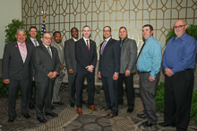 Rep. Brian Fitzpatrick (R-PA 8th), fifth from right, with Boilermaker delegates from L-13, L-19 and L-154.