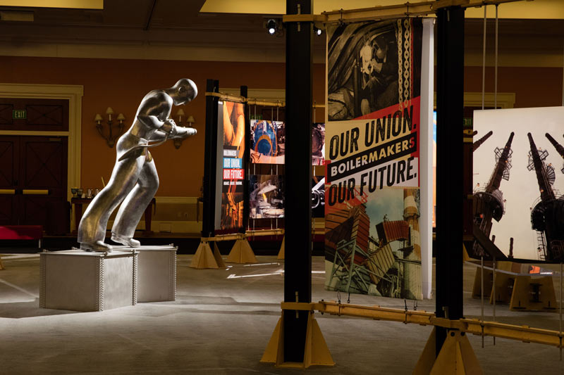 Under the direction of artist Charles Jones, the Boilermakers History Preservation Department created these installations for the 2016 Boilermaker Convention.