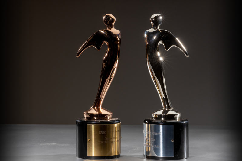 "Under Charles Jones' leadership, The Boilermakers and Wide Awake Films won two Telly Awards. The left was presented in 2012 for the film ""The Boilermaker Legacy"" and the right in 2015 for ""The Boilermaker Code."""