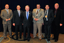 Rep. Leonard Lance (R-NJ 7th), third from left, with L-28's Jim Chew Jr., Ed Latacz, Dan Engle, Jay Brophy, and John Devlin.