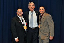 Sen. Mark Udall (D-CO), center, with L-101's Gary Fernandez and Robert Gallegos.