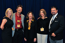 Shelley Berkley, a Democratic senate candidate and current congresswoman representing the 1st U.S. District in Nevada, center, with D-PA-DGA Bridget Martin, IR Jim Cooksey, Charmayne Cooksey, and IVP J. Tom Baca.
