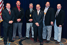 Rep. Steve Cohen (D-TN 9th), center, with Robert Lundsford Jr., L-454; William Tate, L-454; Roy Crownover, L-453; Michael Allen, L-263; and Jon Hill, L-454.