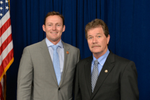 Rep. Patrick Murphy (D-FL-18th), left, and Ronnie Dexter, District 3.