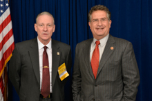 Joe Garcia (D-FL-26th), right, and Mark Vandiver, AD-CSO/D-NTDS.