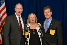 Former Calif. 5th Dist. Rep. Karen Thurman, with AD-CSO Mark Vandiver, left, and Ronnie Dexter, District 3.