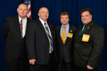 Rep. Mike Quigley (D-IL-5th), third from left, with, l. to r., IR Bill Staggs; Ben Kosiek, L-1; and Kirk Cooper, L-60.