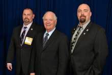 Sen. Ben Cardin (D-MD), center, with L-193 delegates, l. to r., Dan Weber and Mike Herd.