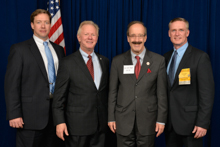 Rep. Eliot Engel (D-NY-16th), third from left, with l. to r., Tom Ryan, L-5; IP Newton Jones; and Kevin O'Brien, L-5.