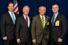 Rep. Paul Tonko (D-NY-20th), third from left, with IP Newton Jones, second from left; Tom Ryan, L-5, far left; and Kevin O'Brien, L-5, far right.