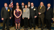 Rep. Suzan DelBene (D-WA-1st), front row, third from left; with IVP J. Tom Baca, back row, third from left; and delegates from L-104 and L-290.