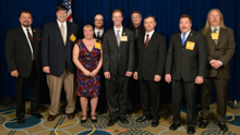 Rep. Derek Kilmer (D-WA-6th), center, with IVP J. Tom Baca, far left, and delegates from L-104 and L-290.