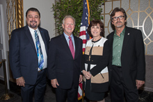 Rep. Jacky Rosen (D-NV 3rd) with, l. to r., IVP J. Tom Baca, IP Newton Jones and IR Jim Cooksey.