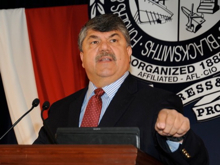 AFL-CIO Pres. Rich Trumka says Wall Street should pay to get jobs back.