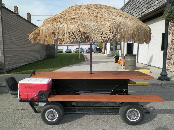 Retiree Uses Boilermaker Skills For Community Projects - Motorized picnic table