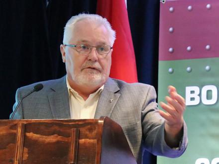 IVP Joe Maloney destaca el compromiso de los Boilermakers con la industria de la construcción.