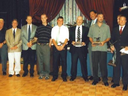 The Northeast Area honors its 2008 contestants. L. to r. are Stephen Murphy, NEABAP co-coordinator;  John Cammuso, Babcock Power Inc.; Gary Gresko, L-13 apprenticeship coordinator; Jim Banford Jr., L-13 BM-ST; Paul Spear, L-29 contestant; Timothy Spencer, L-7 contestant; John Cawley, L-13 contestant (NEABAP runner-up); Sean Murphy, NE Area IVP; Chris Torrell, L-28 contestant; Jason Dupuis, NEABAP Co-Coordinator; Donald Goodwin, L-154 contestant (NEABAP winner); and John Hughes, L-154 apprenticeship coordina