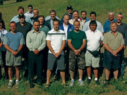 Local Lodge leaders from seven affiliated lodges attend the annual conference of Cement District Lodge D11, July 7-9, in Kimberly, British Columbia.