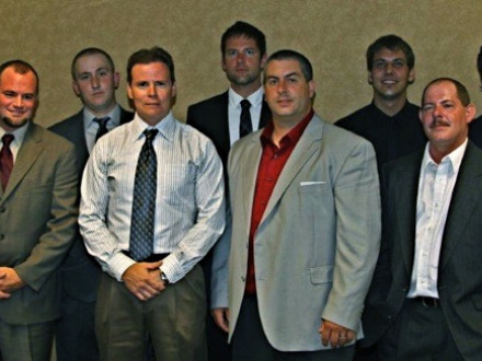 Northeast Area contestants include, front row, l. to r.: Daniel Gilmore L-154; Christopher O'Neill, L-237; Brian Scolamiero, L-29; (runner-up) Michael Bogue, L-7; Gary Smith, L-28; (winner) Jeffrey Nasta, L-5 Zone 5; Joseph Phillips, L-13; Russell Young L-5 Zone 197; and Ryan Taylor L-5 Zone 175.