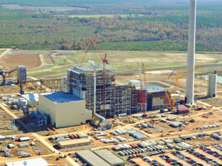 Aerial view of the J.W. Turk Plant under construction. Photo courtesy of AEP/B&W.