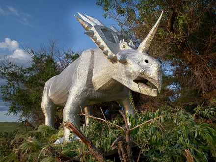 Rick Kawchack's 2,000-lb. dinosaur.
