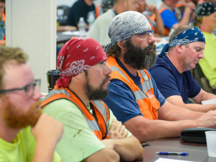 Members receive Code training on Lackawanna job