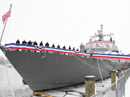 The new USS Little Rock (LCS 9) littoral combat ship. Courtesy Lockheed Martin