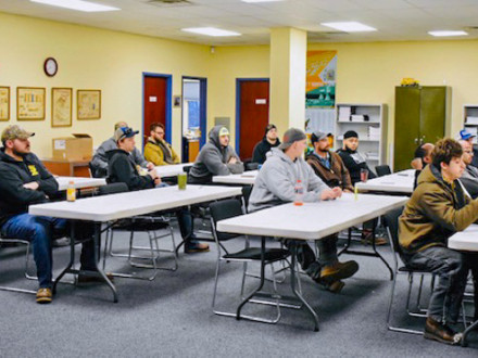 Students attend class at L-28's Welding Boot Camp.