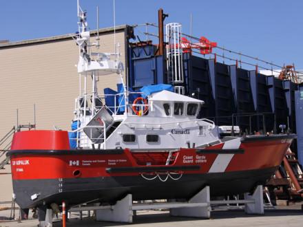A Local 191-built Canadian Coast Guard ship built at the Victoria shipyard.