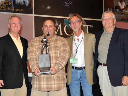 L-154 BM Ray Ventrone accepts the first C.W. Jones MOST award. L. to r., IP New