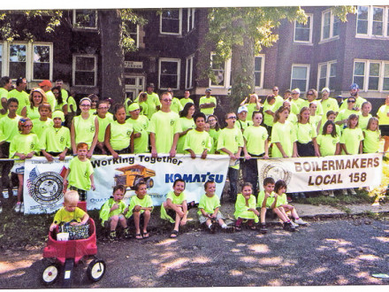 BOILERMAKER LOCAL 158 (Peoria, Ill.) members and their families turned out Sept. 3 for the annual Peoria Labor Day parade organized by the West Central Illinois Labor Council, AFL-CIO.