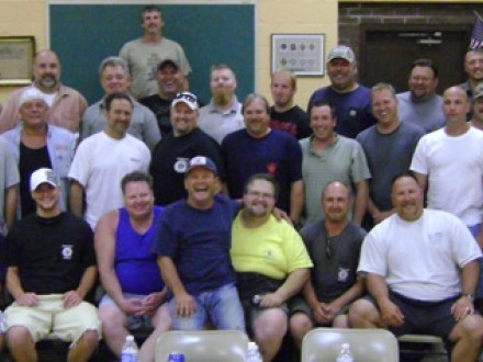 Baltimore Local 193 members complete OSHA 30 classes conducted by primary instructor William Herd (in yellow shirt, center front).