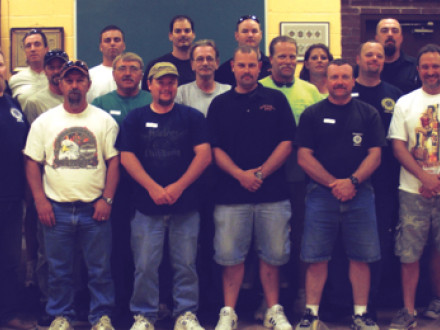 Baltimore Local 193 members attend a steward training class July 7-8.
