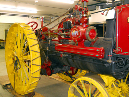 Jumbo, an 1895 12-hp. steam engine tractor, is operational again thanks to the efforts of Local 363.