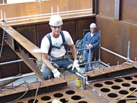 L-374's Andy Bell put himself through school working as a boilermaker.