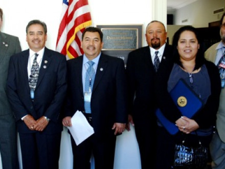 Delegates from Local 1998, San Diego, Calif., gather before meeting with Rep. Duncan Hunter (R-CA 52nd) at the U.S. Capitol.
