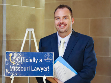 COS Tyler Brown is sworn into the Missouri State Bar.