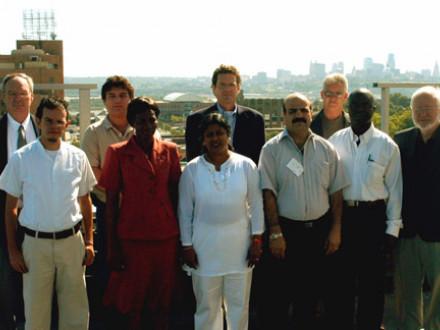 Foreign labor leaders meet Boilermaker leadership Sept. 13 at the Brotherhood building in Kansas City, Kan.