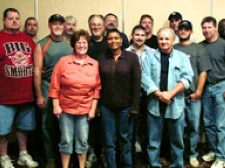 Members from three cement lodges receive steward training in Martinsburg, W.V., in September.