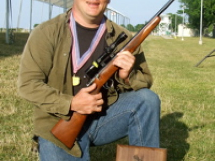 Local 26 member John Merges earns a gold medal at the 2007 National Rimfire Sporter Match.