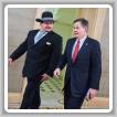 El Presidente del L-11 Jason Small, izquierda, acompaña al senador de Montana Steve Daines al Estado de la Unión 2016 en Washington, D.C.