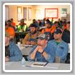 Miembros del L-374 escuchan una presentación de los instructores de MOST, Ray Parrot y Jim Porter.
