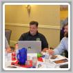 Nuevos BM-STs intercambian ideas durante una sesión de entrenamiento. Desde la izquierda: Clinton Penny, L-11; Kirk Cooper, L-60 y Wade Mason,L-110.