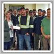Boilermakers del L-128 y L-555, junto con el empleador Venshore Mechanical Ltd., donan más de mil dólares a un hospital local.
