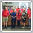 Los miembros del Local 158 visten de rojo en recaudación de fondos para Honor Flights. Ellos donaron $2,100 a Honor Flights en su reunión de mayo.