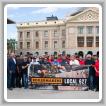 Cuarenta miembros del L-627 se reunieron en el patio del Capitolio del Estado de Arizona para el primer Día de Acción anual del local.