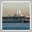 El astillero de NASSCO con el USS Bonhomme Richard en dique seco. (Marina de E.E.U.U.)