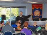 L-169 Assistant Business Manager and Apprenticeship Coordinator Mike Card addresses aspiring welders.