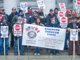 Boilermakers rally against right-to-work in Wisconsin.