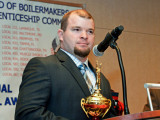 Daniel Eisenhart, Local 69, receives the Paul D. Wedge Memorial Award for the Outstanding Graduate Apprentice of the Southeast Area.